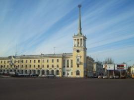 Здание главпочтамта в городе Ангарске