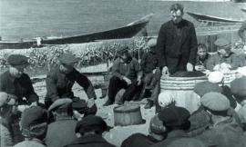 Рыболовецкая бригада во время лова на Малом море
