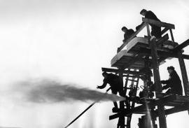 Первый выброс нефти на Марковском месторождении