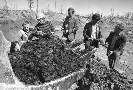 На Мугунском угольном разрезе