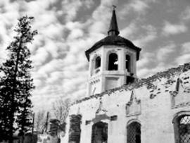 Некогда белокаменная красавица, Сретенская церковь Бельска сейчас выглядит так, как будто пережила авианалет
