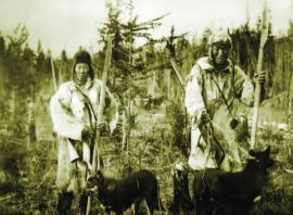 Тунгусы на охоте. Фотография 19 в.
