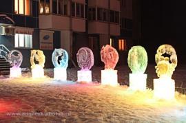 Ледяные фигурки в Ангарске