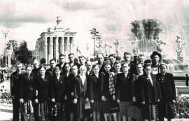 Группа колхозников Иркутской области – участников Всесоюзной сельскохозяйственной выставки