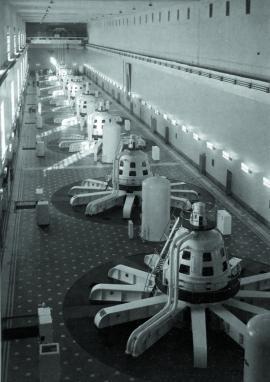Современный зал Иркутской ГЭС