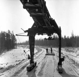 На строительстве железной дороги Хребтовая – Усть-Илим
