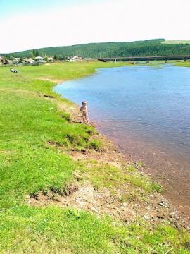 Река Анга, местность в районе Бутаковского МО