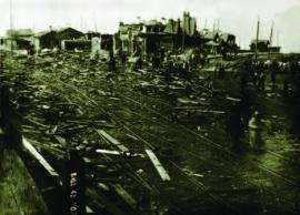 Станция Байкал, разрушенная во время гражданской войны ИОКМ ф33-7а