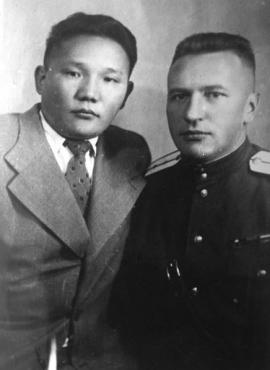 Николай Николаевич Ивашевский и Цеденбал. 1944–1945 г.