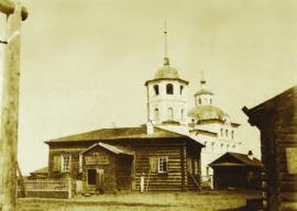 Волостное правление и церковь в с. Батурино. 1902 г. ИОКМ 7580-22