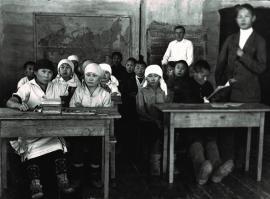 Занятия в Ербогаченской национальной школе