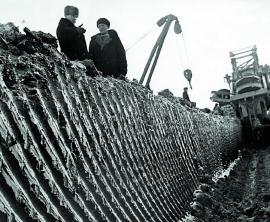 Траншея для нефтепровода из Башкирии в Ангарск