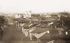 Иркутск после пожара 1879 года.