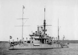 """Броненосец """"Пётр Великий"""", на котором был в плавании корабельный гардемарин Ф. К. Дриженко с 28 мая по 25 сентября 1877 г."""
