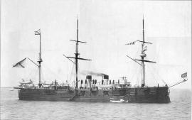 Фрегат «Минин», на котором служил Ф. К. Дриженко на одном из этапов Кругосветного плавания.