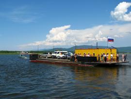 Переправа через реку Баргузин