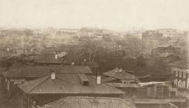 Вид на сгоревший Иркутск с Иерусалимской горы в сторону сгоревших кварталов. Фото В.А. Динесса. 1879–1880. Собрание НБ ИГУ