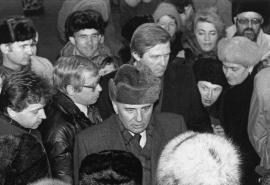 Михаил Сергеевич Горбачев в Иркутске