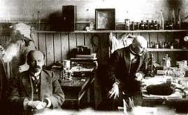 1918 г. Профессора В.Ч.Дорогостайский и Б.А.Сварчевский в Омском сельскохозяйственном институте.