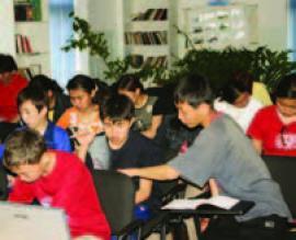 Занятия юных экологов.