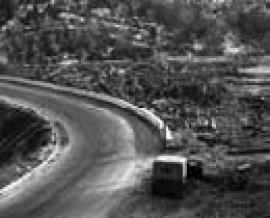 Рис. 3.29. 3 – Селевые отложения в долине кл. Галангского (Кругобайкальский участок ВСЖД, июль 1971 г.).
