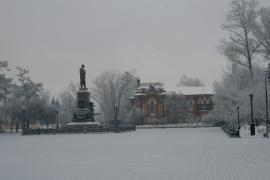 Вид на памятник Александру III