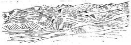 Рис. 2.5. Ярусный рельеф юго-западной части Ольхона у зал. Загли (Уфимцев, 1995)
