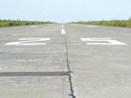 Взлетно-посадочная полоса аэропорта Усть-Илимск