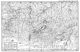 Карта озера Байкал П.С. Палласа.
