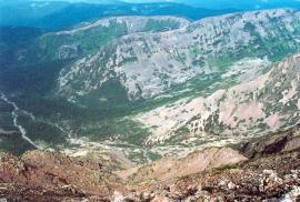 Западные боковые гребни Байкальского хребта в вершине реки Левый Улькан