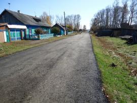 Улица села Голуметь