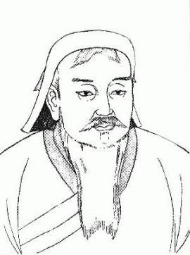 Чингисхан. Рожден в 1155, провозглашен ханом в 1206, скончался в 1227