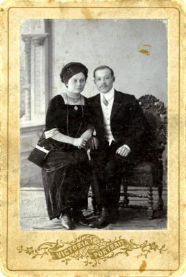 Это прадед и прабабушка Александра Гимельштейна по материнской линии — Яков и Лия.