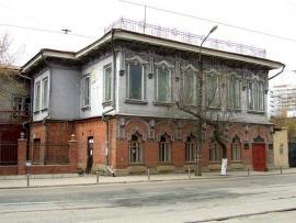 """""""Дом со львами"""" на улице Разина (бывшей Почтамтской). Здесь размещалось английское консульство"""