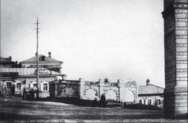 Вид на кладбище со стороны улицы Амурской. Фото не позднее 1911 года