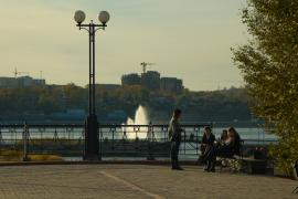 Вид с площадки у памятника Александру III на Ангару
