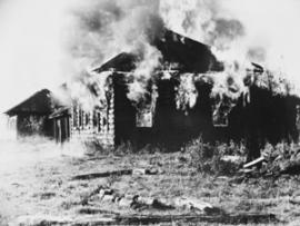 Оставленные дома приказали сжечь