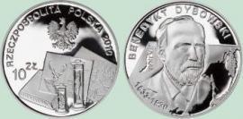 Бенедикт Дыбовский на монете Польши номиналом 10 злотых.