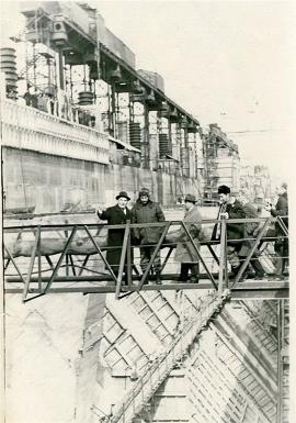 Фидель Кастро в Братске, на строительстве ГЭС. 13 мая 1963.  Фотохроника ТАСС