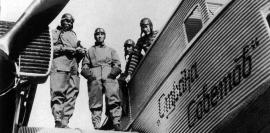 """Самолёт """"Страна Советов"""", совершивший перелёт Москва – Нью-Йорк в 1929, сделал остановку в Иркутске"""