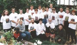 Коллектив ботанического сада в день 80 летнего юбилея