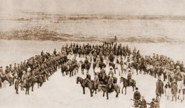 Бойцы партизанского отряда Нестора Каландаришвили. Собрание И.И. Козлова