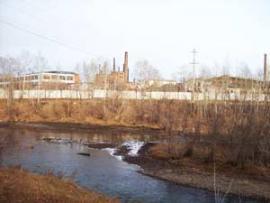 Здания заброшенной Хайтинской фабрики. Современное фото