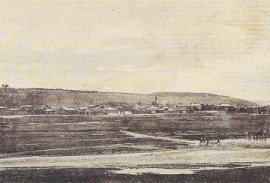 Фотография правого берега реки Ушаковка с видом на пивоваренный завод Ф.Ф. Доренберга