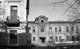 Здание бывшей гостиницы «Амурское Подворье». Улицы 80-х. ул. Фурье.  Фото Эраст.ру