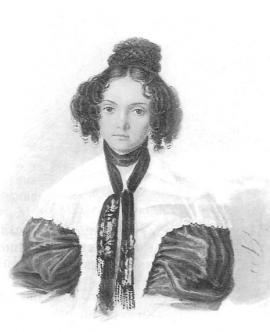 М.Н. Волконская. Акварель Н.А. Бестужева. 1837 г.