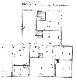 План школы для арестантских детей. Нач. 1890-х гг. ГАИО