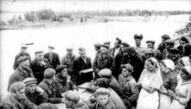 Партсобрание на полевом стане. Конец 40-х годов