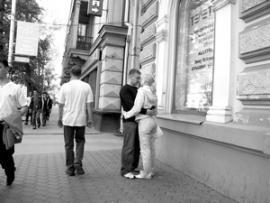"""Первый иркутский стиляга Володя Соколов заявлял: """"Я принимаю на Большой с шести до двенадцати"""". Большая - улица Карла Маркса."""