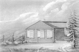Дом братьев А. и И. Поджио. Рис. А. Якубовича. 1840-е гг.